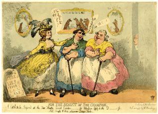 1784 rowlandson benefit of the champion BM