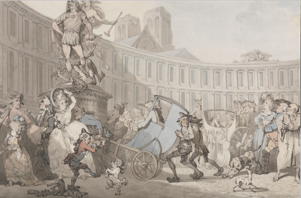 Thomas Rowlandson, Place des Victoires, 1783 (YCBA)