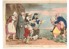 Gillray, John Bull's Embarkation, 1792