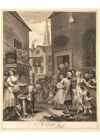 Hogarth, Noon, 1738