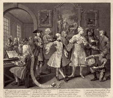 Hogarth, Rake's Progress, 1735