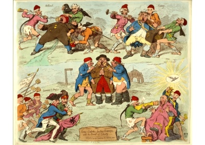 Gillray, French Sans Culottes
