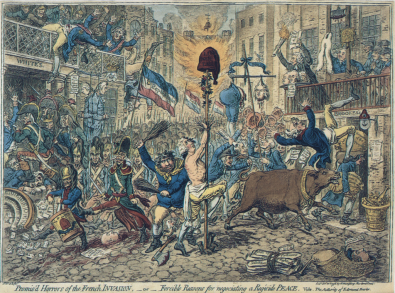 Gillray, Promis'd Horrors of a French Invasion