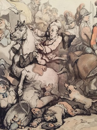 Rowlandson, English Review, 1786 detail
