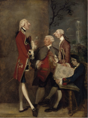 Reynolds, Caricature of Thomas Brudnell and Friends, 1751