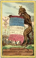 Gillray, Genius of France,