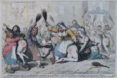 Gillray, Horrid Barbarities, 1792
