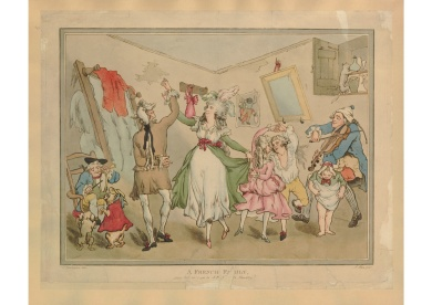 Rowlandson, French Family, 1785