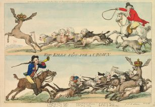 Rowlandson, Who Kills First for a Crown, 1790