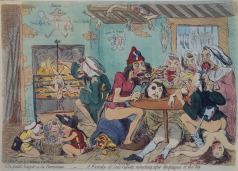 Gillray, Sans Culottes Feasting, 1792