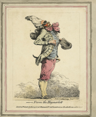Philippe de Loutherbourg, 'From the Haymarket' from a series called 'English Caricatures' published in 1777